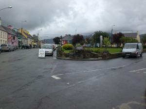 A typical Irish town. I do not recall the name of this one where we made a rest stop.